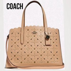 Coach tan tote/ shoulder/crossbody bag